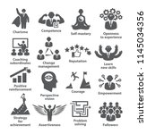 business management icons.... | Shutterstock .eps vector #1145034356