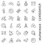 thin line vector icon set  ...   Shutterstock .eps vector #1145034419