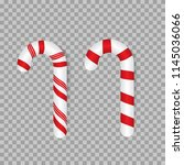 candy canes. traditional... | Shutterstock .eps vector #1145036066