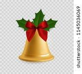 christmas bell. traditional... | Shutterstock .eps vector #1145036069