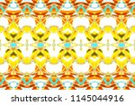 melting colorful symmetrical... | Shutterstock . vector #1145044916