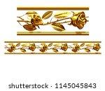 golden  ornamental segment  ... | Shutterstock . vector #1145045843