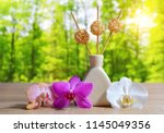 air freshener with orchid... | Shutterstock . vector #1145049356
