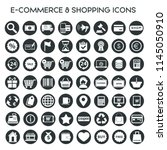 e commerce   shopping icons...