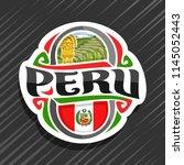 vector logo for peru country ... | Shutterstock .eps vector #1145052443