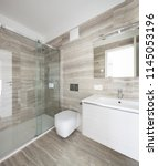interiors of modern apartment ... | Shutterstock . vector #1145053196