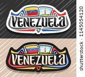 vector logo for venezuela...   Shutterstock .eps vector #1145054120