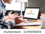 page not found and error in... | Shutterstock . vector #1145058356