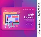 web layout landing page ui...