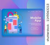 mobile app illustration landing ...