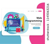 web programming landing page... | Shutterstock .eps vector #1145063216
