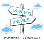 question  answer signpost | Shutterstock .eps vector #1145068616