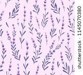beautiful and elegant lavender...   Shutterstock .eps vector #1145070380