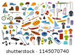 sport fitness equipment  gear ... | Shutterstock .eps vector #1145070740