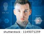 portrait of attractive young...   Shutterstock . vector #1145071259
