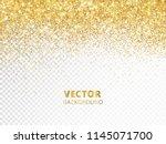 sparkling glitter border  frame.... | Shutterstock .eps vector #1145071700