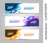 vector abstract design banner... | Shutterstock .eps vector #1145073959