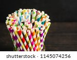paper straw of different colors ...