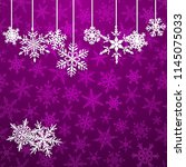 christmas illustration with... | Shutterstock .eps vector #1145075033