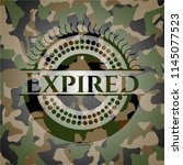 expired on camo pattern | Shutterstock .eps vector #1145077523