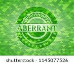 aberrant green emblem with...   Shutterstock .eps vector #1145077526