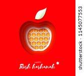 jewish new year  rosh hashanah. ... | Shutterstock .eps vector #1145077553