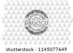 brooch realistic grey emblem... | Shutterstock .eps vector #1145077649