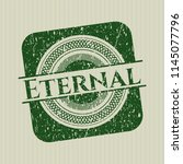 green eternal distressed rubber ... | Shutterstock .eps vector #1145077796