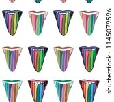 hand drawn pattern with lgbt...   Shutterstock .eps vector #1145079596
