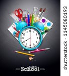 back to school design with... | Shutterstock .eps vector #1145080193