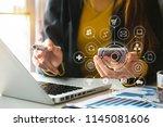 digital marketing media in... | Shutterstock . vector #1145081606