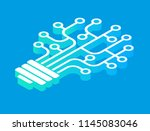 light bulb idea icon with... | Shutterstock .eps vector #1145083046