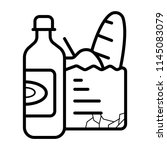 bag of groceries icon   Shutterstock .eps vector #1145083079