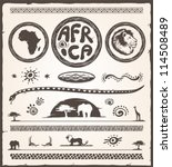 africa design elements... | Shutterstock .eps vector #114508489