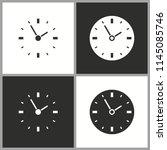 vector deadline time icon....   Shutterstock .eps vector #1145085746