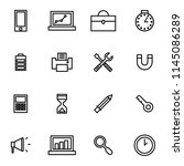 hardware and devices icon set...
