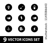 electricity icon. collection of ... | Shutterstock .eps vector #1145086643