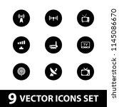 antenna icon. collection of 9... | Shutterstock .eps vector #1145086670