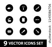 cut icon. collection of 9 cut... | Shutterstock .eps vector #1145086706