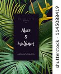 floral wedding invitation with... | Shutterstock .eps vector #1145088419