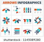 set of a arrows vector... | Shutterstock .eps vector #1145089280