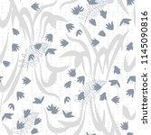 vector floral seamless pattern ...   Shutterstock .eps vector #1145090816