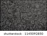 line art vector hand drawn... | Shutterstock .eps vector #1145092850