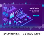 vector 3d isometric template of ... | Shutterstock .eps vector #1145094296