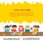 back to school. happy creative... | Shutterstock .eps vector #1145094353