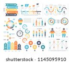 financial and marketing... | Shutterstock .eps vector #1145095910