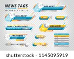 set of various colorful tags... | Shutterstock .eps vector #1145095919