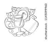 doodle hand drawn vector... | Shutterstock .eps vector #1145099960