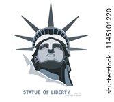 portrait. statue of liberty usa ... | Shutterstock .eps vector #1145101220