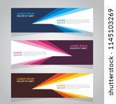 vector abstract design banner... | Shutterstock .eps vector #1145103269
